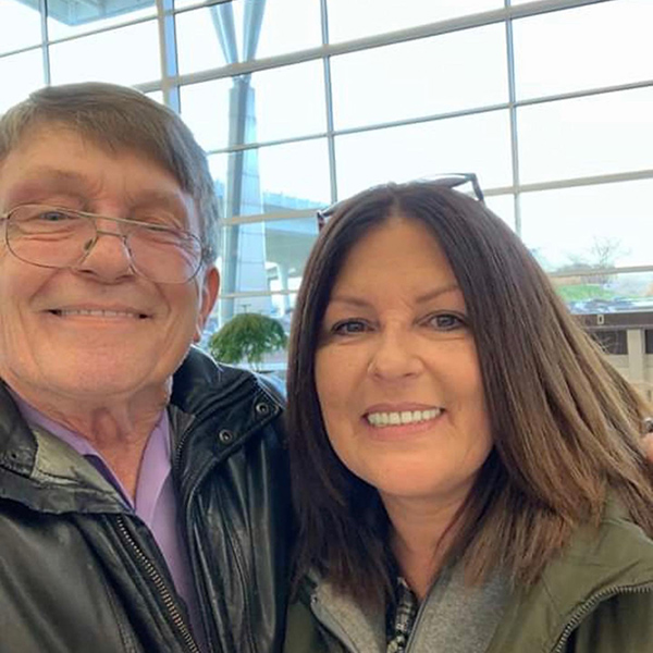 Dad and me at the airport